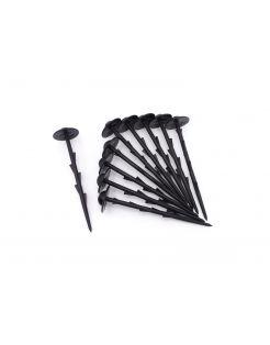 Nature Grondpen - Groeifolie Gronddoek - 20 cm Zwart 10 stuks