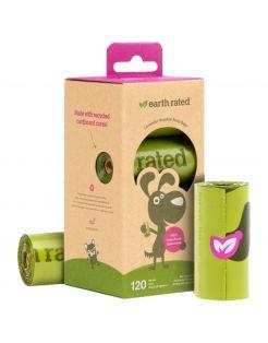 Earth Rated Poepzakjes Navulling Box Lavendel - Hondenpoepzakjes - 22.86x33.02 cm Groen 8 rol