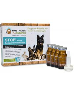 Musthaves For Animals Stop! Aromatherapie - Anti vlooienmiddel - 4x8 ml