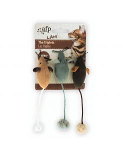 All For Paws The Triplets - Kattenspeelgoed - 7x7x3 cm Assorti