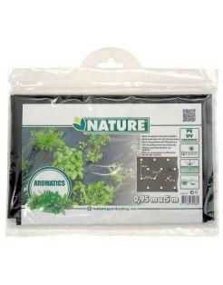 Nature Kweekfolie Tuinkruiden - Groeifolie Gronddoek - 0.95x5 m Zwart Anti-Uv