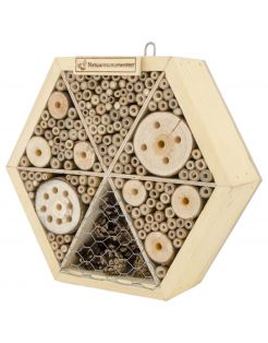 Natuurmonumenten Insectenhuis Zeshoek - Nestkast - 8x25x25 cm Medium