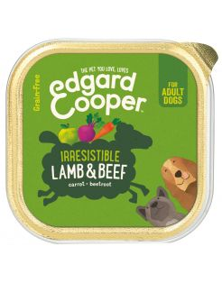 Edgard&Cooper Kuipje Lamb Beef Adult - Hondenvoer - Lam Rund Wortel 150 g Graanvrij