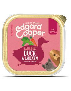 Edgard&Cooper Kuipje Duck Chicken Puppy - Hondenvoer - Eend Kip Broccoli 150 g Graanvrij