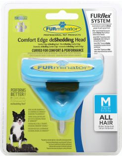 Furminator Furflex Dog Deshedding Tool - Hondenvachtkam - 12x4.5x15.5 cm Lichtblauw Alle Haartype Medium