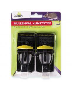 Luxan Muizenval Kunststof - Ongediertebestrijding - 2 stuks