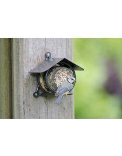 Wildbird Pindakaaspothouder Metaal - Voersilo - Grijs per stuk