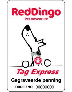 Red Dingo Hondenpenning Giftcard - Hondenadresdrager - per stuk