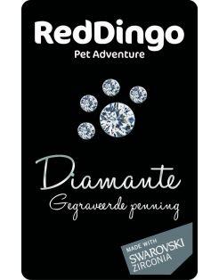 Red Dingo Hondenpenning Giftcard Diamond - Hondenadresdrager - Zwart per stuk