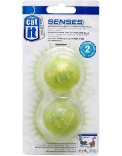 Catit Senses Lichtgevende Bal - Kattenspeelgoed - Groen 2 stuks