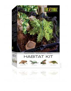 Exo Terra Habitat Kit Rainforest Small - Terraria - 30x30x45 cm Zwart