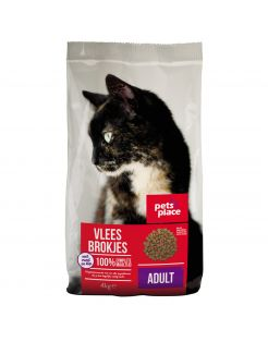 Pets Place Kat Adult - Kattenvoer - Vlees 4 kg