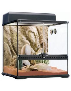Exo Terra Habitat Kit Desert Medium - Terraria - 45x45x45 cm Zwart