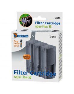 Superfish Filtercassette Aqua-Flow 50 - Filters - 3 stuks