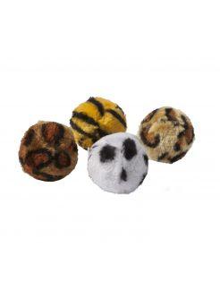 Adori Speeltje Bal Dierenprint - Kattenspeelgoed - 4 cm Assorti