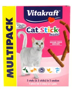 Vitakraft Cat-Stick Mini Multipack - Kattensnack - Mix 5x3 stuks