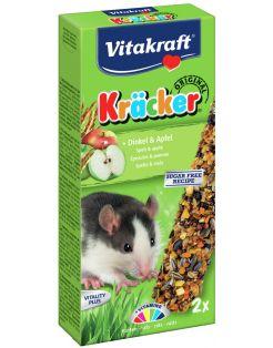 Vitakraft Ratten Kracker Corn/Fruit - Knaagdiersnack - 2 stuks