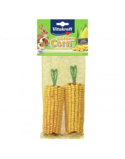 Vitakraft Golden Corn Maiskolf - Knaagdiersnack - 2 stuks