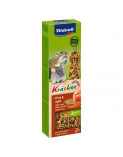 Vitakraft Muis/Gerbil Kracker Corn/Fruit - Knaagdiersnack - 2 stuks
