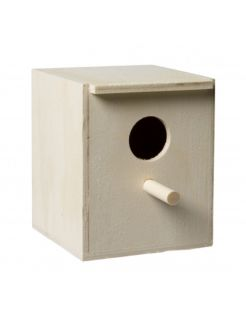 Homestyle Exotenkast Hout Dicht - Vogelbroedbenodigheden - 12x10x13 cm