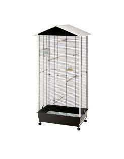 Ferplast Voliere Nota - Vogelverblijven - 76.5x57x161.5 cm Zwart Wit