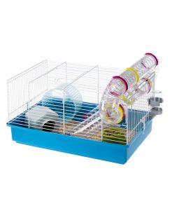 Ferplast Hamsterkooi Paula - Dierenverblijf - 46x29.55x24.5 cm Blauw