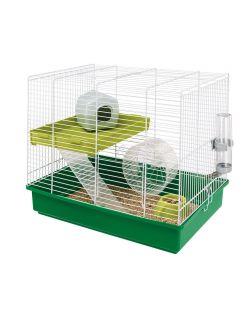 Ferplast Hamsterkooi Hamster Duo - Dierenverblijf - 46x29.5x37.5 cm Groen