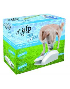 All For Paws Chill Out Koel Fontein - Hondenverkoeling - 25x9x22 cm Wit Blauw