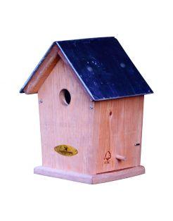 Wildbird Nestkast Mees Leien Dak 32mm - Broeden - 16x19.5x30 cm per stuk