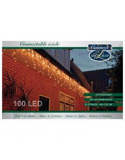 Cbd Connectable Icicle - Verlichting - 400x35 cm 463 g Warm Wit 100 led