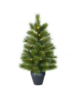 Black Box Trees Kerstboom Led 20 Lamps - Kunstgroen - 60x33 cm Groen 20 led
