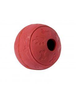 Adori Rubber Speeltje Voerbal - Hondenspeelgoed - 7 cm Rood