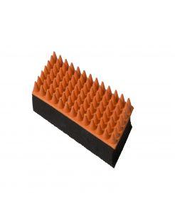 Adori Verzorgingsborstel Rubber Kat - Kattenvachtborstel - 5x13 cm Rood Groen