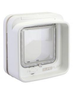 Sureflap Dierenluik Microchip Dualscan - Kattenluik - 20x20x7 cm Wit