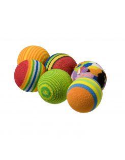 Adori Speeltje Bal Regenboog - Kattenspeelgoed - Multi-Color 6 stuks
