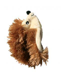 Kong Speeltje Pluche Egel - Kattenspeelgoed - 10 cm Bruin
