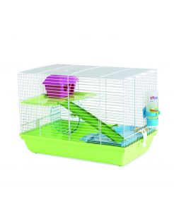 Savic Hamsterkooi Martha Triple - Dierenverblijf - 46.5x29.5x34 cm Groen