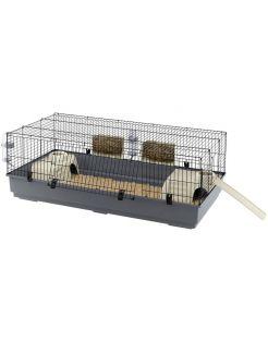 Ferplast Konijnenkooi Rabbit - Dierenverblijf - 140x71x51 cm Grijs Zwart 140