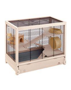 Ferplast Hamsterkooi Hamsterville - Dierenverblijf - 60x34x49 cm Houtkleur