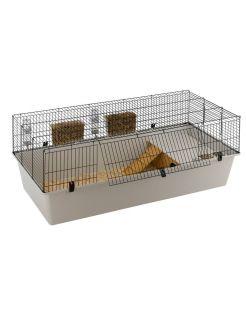 Ferplast Konijnenkooi Rabbit - Dierenverblijf - 156.5x77x61.5 cm Grijs Zwart 160