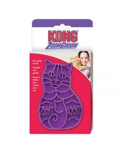 Kong Rubber Borstel Zoomgroom - Kattenvachtborstel - Paars per stuk