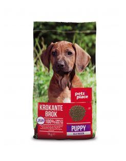 Pets Place Puppy Krokante Brokken Gevogelte&Vlees - Hondenvoer