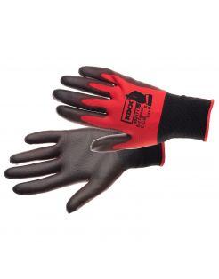Kixx Tuinhandschoen Connect - Touch Rood&Zwart - Handschoenen