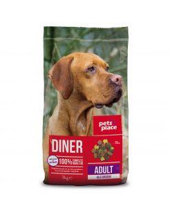 Pets Place Adult Diner Gevogelte&Vlees - Hondenvoer