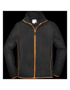 Terra Trend Job Fleecejack Zwart&Oranje - Werkkleding