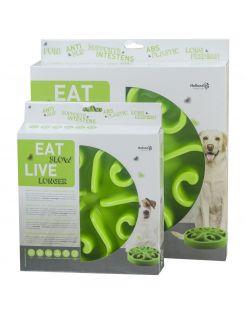 Eat Slow Live Longer Anti-Schrok Voerbak Groen - Hondenvoerbak