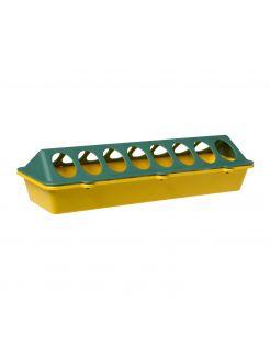 Olba Kuikenvoerbak Plastic Geel&Groen - Voerbak