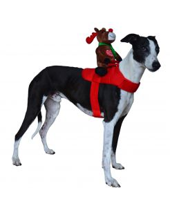 Adori Kerst Verkleed Set Rendier Rood&Bruin - Hondenkleding