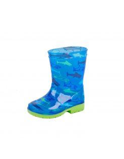 Gevavi Kinderlaarsje Haai Blauw&Groen - Laarzen