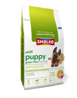 Smolke Puppy Grain Free Formula Kip&Lam&Vis - Hondenvoer